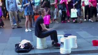 Download Incredibly Fast Street Drummer - Pitt Street Sydney Video