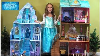 Download Princess Story: Frozen Princess Anna and Queen Elsa Sleepover in NEW Arendale Palace Video
