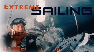 Download Extreme Sailing Conditions, Huge Waves, Stormy Weather! Video