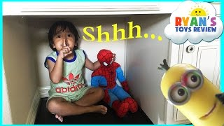 Download Hide N Seek Family Fun with Spiderman Thomas and Friends Minions Paw Patrol toys for kids Video
