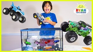 Download Ryan Truck Car Wash with learning colors and number counting Video