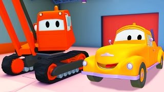 Download Tom the Tow Truck with the Demolition Crane and their friends in Car City Video