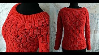 Download Джемпер женский крючком с рукавом. Cardigan womens crochet sleeve. Video