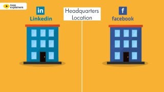 Download Facebook vs. LinkedIn for professionals - Infographic Video Video