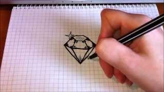 Download Простые рисунки #89 Как нарисовать Бриллиант Video