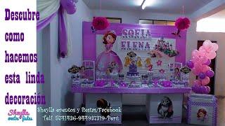 Download Sofia, la princesa, mesa temática de dulces, decoracion de fiesta infantil, niña Video