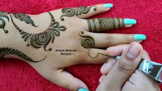 Download New Beautiful Stylish Mehndi Design for Hand || Karwachauth Special Mehndi || Arham Mehndi Designs Video