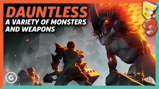 Download Dauntless Has Tons Of Monsters And Weapons To Kill Them With | E3 2017 Video