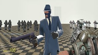 Download TF2 Spy vs Combine Soldiers and Elites in Garry's Mod Video
