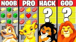 Download Minecraft Battle: THE LION KING MOVIE CRAFTING CHALLENGE - NOOB vs PRO vs HACKER vs GOD ~ Animation Video