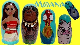 Download Disney MOANA Princess Nesting Dolls, Maui, Hei Hei, Pua TOY Surprises, Fashem, Mashem / TUYC Video