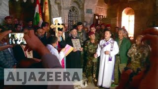 Download Iraqi Christians rebuild churches after ISIL Video