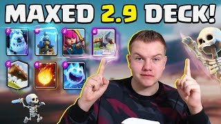 Download MAXED DECK! 2.9 Quick X-Bow Tesla Cycle Deck LIVE Ladder Gameplay! Video