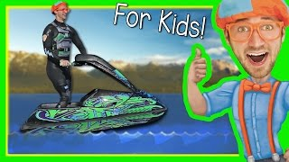 Download Boats for Kids with Blippi | Explore a Jet Ski Video