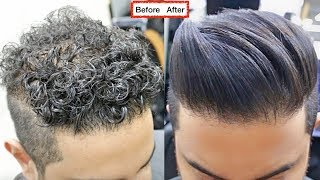 Download CURLY TO STRAIGHT Hair TUTORIAL. All About keratin 2017 [ A SMOOTH NATURAL HAIR FOR MEN ]✔️ Video