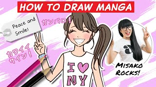 Download How to draw a Kawaii Girl with a Peace Sign! ( Step by Step ) Video