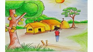 Download How to draw a scenery of summer season Step by step (very easy) Video