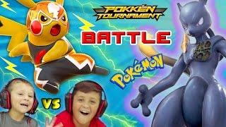Download FGTEEV KIDS POKEMON BATTLE w/ SHADOW MEWTWO, CHARIZARD & More (Pokken Tournament Gameplay) Video