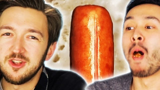 Download People Eat Hot Dogs While Learning Gross Facts About Them Video