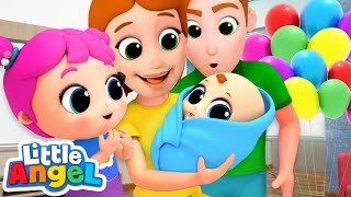 Download Meet Our Baby Brother! New Baby Song | Nursery Rhymes by Little Angel Video