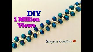 Download DIY Beaded bracelet Gorgeous ,Stunning , Fantabulous 😃👏🏼👱🏻♀️👩🏻 Video