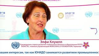 Download Elfi Klumpp - Interview at SPIEF 2018 Video