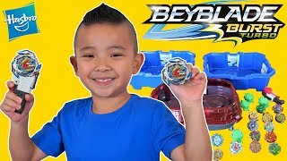 Download BEYBLADE Burst Turbo SLINGSHOCK Epic Battle With CKN Toys Video