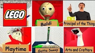 Download How To Build: LEGO All Characters Baldi's Basics | In Education and Learning Compilation! Video
