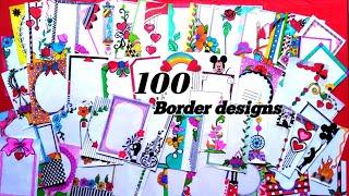 Download 100 Border Designs Compilation /Amazing Border design /Project File Decoration Ideas/Beautifuldesign Video