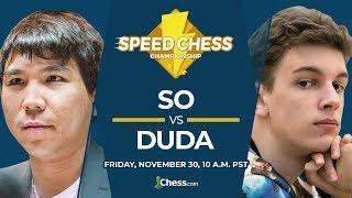 Download 2018 Speed Chess Championship: So vs Duda Video