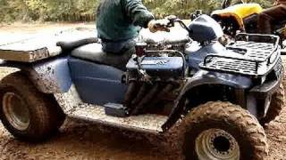 Download WICKED FAST!! POLARIS 454 V8 BIG BLOCK 4wheeler! Video