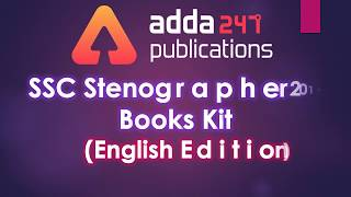 Download SSC Stenographer 2019  Books Kit   Mail us at gopal.anand@adda247 Video