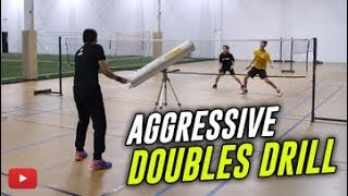 Download Badminton Tips - Aggressive Doubles Drill - Coach Andy Chong Video