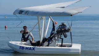 Download Amphibious Ultralight Takeoff, Low Flying over Limassol and Water Landing - A Flying Boat! Video