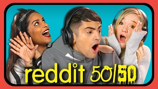 Download YOUTUBERS REACT TO REDDIT 50/50 Challenge Video