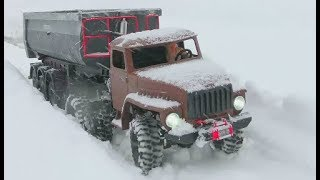Download HEAVY RC SNOW ROAD! STRONG AND COOL RC MACHINES WORK IN THE SNOW! BUILD A RC ROAD AT THE SNOW! Video