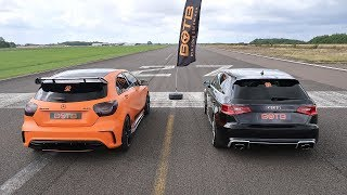 Download DRAG RACE! AUDI RS3 VS MERCEDES A45 AMG! Video