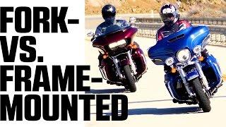Download Harley Davidson Glide Off: Electra Glide vs. Road Glide - 4K Video