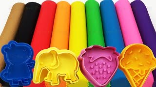 Download Learn Colors with Play Doh Modelling Clay and Cookie Molds and Surprise! Video