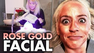 Download Trying the ROSE GOLD Clay Mask Facial!! (Beauty Trippin) Video