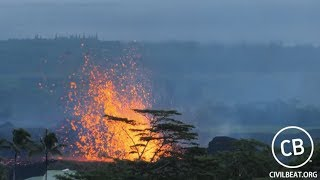 Download Live Video: Kilauea Lava Flow Activity In Lower Puna Hawaii Video