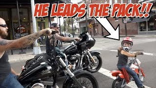 Download 6 yr Old Leads Motorcycle Ride | A Biker is Born Video