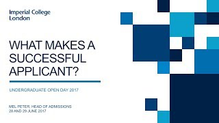 Download What makes a successful applicant? Undergraduate Open Days 2017 Video