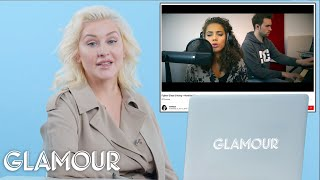 Download Christina Aguilera Watches Fan Covers On YouTube | Glamour Video