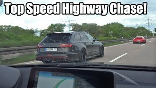 Download Top Speed Autobahn Chase! 750HP Audi RS6 vs 800HP Porsche 911 Turbo S vs 450HP BMW M2 Video