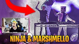 Download Ninja Reacts to Marshmello Inviting Him on Stage! | Fortnite Best Moments #26 Video