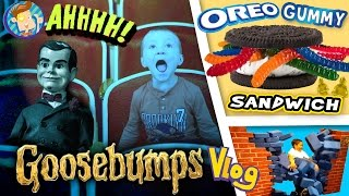 Download GOOSEBUMPS Movie / World's Largest Gummy Worm OREO Sandwich / Baby Names & More (FUNnel Vision Vlog) Video