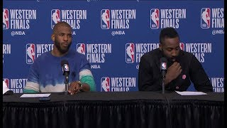 Download Chris Paul & James Harden Postgame Interview - Game 1 | Warriors vs Rockets | 2018 NBA Playoffs Video