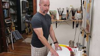 Download My Oil Painting Palette - Old White Porcelain Table Video
