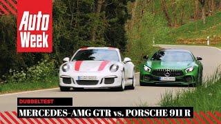 Download Mercedes-AMG GTR vs. Porsche 911 R - AutoWeek Dubbeltest Video